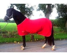 New Pferd COB Pony Shetland Mini Rot Show Travel Fleece Teppich 15,2 cm-6 3 22,9 cm stabile Kühler Wahl von Größen (6 22,9 cm).