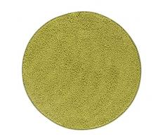 misento 292184 Hochflorteppich Shaggy, 100 cm rund, grün