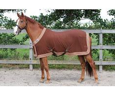 Harrys Horse 32200086-03175 cm Fleecedecke Prunkmodell mit Bauchlatz, M, braun