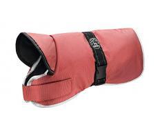 HUNTER Denali Reflect Hundemantel, Wintermantel, Fleecefutter, wasser- und windabweisend, reflektierend, 45, rot