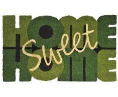 """Verdemax 5473 Viereckige Fußmatte Sweet Home"""", Grün"""