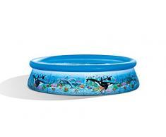Intex Ocean Reef Easy Set Pool - Aufstellpool - Ozean Riff Design - Ø 305 x 76 cm - Mit Filteranlage
