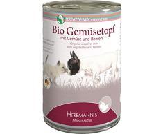 Herrmanns Bio-Hunde- und Katzenfeuchtfutter Gemüsetopf, 12er Pack (12 x 400 g)