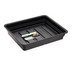 Stewart 2385005 52 cm extra tief Kies Tablett ohne Löcher, Schwarz