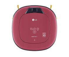 LG Electronics VRD 820 MRPC Pet Care Roboterstaubsauger (Raumerkennung durch Dual-Kamera System, 4 Reinigungsmodi, inkl. Teppich- und Tierhaarbürste) metal rot