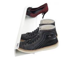 j-me JM200470WHI Schuhregal für 4 Paar Schuhe, wandbefestigt, waagerecht, 70 cm lang, Edelstahl