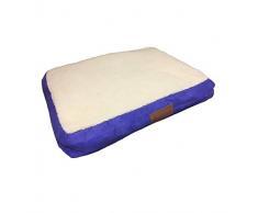 Ellie-Bo Hundebett mit Oberfläche aus Kunstwildleder und -schaffell für Hundekäfige/-Boxen klein 61 cm (24 inch)