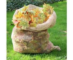NOOR Laubsäcke Jute 70 x 100 cm 3 Stück kompostierbar Laubsack Jutesack Gartensack Kartoffelsack Bio