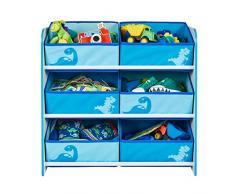 Worlds Apart Dinosaurier - Regal zur Spielzeugaufbewahrung mit sechs Kisten für Kinder