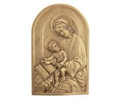 Design Toscano EU32622 Wandrelief Hl. Anna, Schutzpatronin der Großmütter, Wandskulpturen, Andere, gold, 1,25 x 2,5 x 18 cm