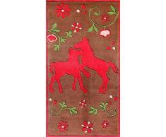 Pferd Teppich braun Fushia PF–102–01, braun, 80*150cm