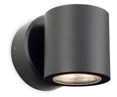 Firstlight 2334 GP 6 Watt LED Alaska 2-flammige Wandleuchte Wandleuchte, graphit