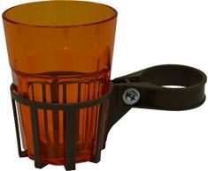Angerer Getränkehalter für Hollywoodschaukel mocca, inkl. Becher orange, 973/0002
