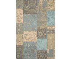 benuta Flachgewebe Teppich Frencie Patchwork Braun 120x180 cm   Pflegeleichter Teppich für Flur und andere Wohnräume