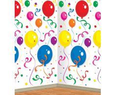 Beistle 52052 Luftballons und Konfetti Hintergrund, 4-feet von 30-feet