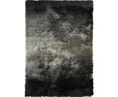 Benuta Shaggy Hochflor Teppich Whisper Anthrazit/Grau 80x150 cm | Langflor Teppich für Schlafzimmer und Wohnzimmer