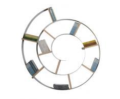 Wandregal Snail, Silber, CD-/DVD-/Bluray-/Bücher Regal, dekoratives Schneckenregal für 150 CDs