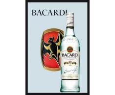 empireposter - Bacardi - Bottle - Größe (cm), ca. 20x30 - Bedruckter Spiegel, NEU - Beschreibung: - Bedruckter Wandspiegel mit schwarzem Kunststoffrahmen in Holzoptik -