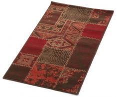 Lalee 347162888 Moderner Designer Teppich / Muster : Patchwork / Rot / Neu / Grösse: 60 x 110 cm
