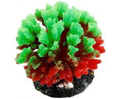 Sourcingmap Kunstpflanze für Aquarien, Silikon, 7 cm, Grün/Rot