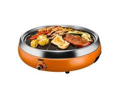 Unold 58543 Asia-Grill, 30 cm Grillplatte, fettarmen und gesunden grillen, 1900 W, orange