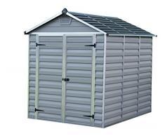 Palram Skylight Shed Gerätehäuser, dunkel grau/anthrazit, 230.5 x 185.5 x 217 cm