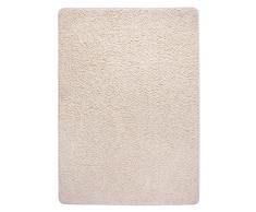misento 292142 Hochflorteppich Shaggy, 160 x 230 cm, beige