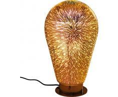 Kare 60636 Design Tischleuchte Bulb Firework, Moderne, große Tischlampe, Nachttischlampe, Lampe, Leuchte für den Tisch oder die Kommode (H/B/T) 40x24x24cm