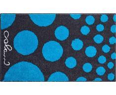 Grund COLANI Exklusiver Designer Badteppich 100% Polyacryl, ultra soft, rutschfest, ÖKO-TEX-zertifiziert, 5 Jahre Garantie, Colani 16, Badematte 60x100 cm, blau