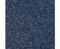 Teppichboden Schlingentextur Kurzflor Auslegware Bodenbelag blau 350 x 400 cm. Weitere Farben und Größen verfügbar