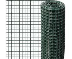 Windhager Drahtgitter kunststoffummantelt, Wühlmausschutz für Hochbeet, für Volieren, als Gehege für Kleintiere, Grün, Maschenweite 12,7 mm, 5 x 0,5 m x 0,9 mm, 72047