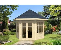 SKAN HOLZ Pavillon Almelo 28 mm, unbehandelt Gartenhäuser, natur, 303 x 350 x 354 cm