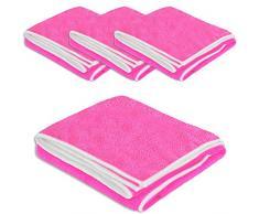 MFT HIGH PERFORMANCE 4er Set pink (7015) - Mikrofaser Reinigungstücher 40 x 40 cm Microfaser Tücher Universaltuch fusselfrei Tuch Staubtuch 300 g/m² - ABACUS