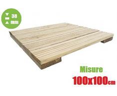 Italfrom Terrassenfliesen für den Außenbereich, aus Holz, Decking (100 x 100 x 3,8)