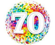 Qualatex Folienballon 49556 70 Rainbow Konfetti, 45,7 cm farbenreiche