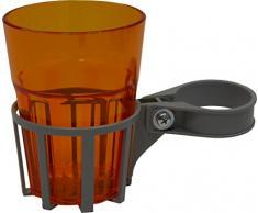 Angerer Getränkehalter für Hollywoodschaukel silber, inkl. Becher orange, 971/0002