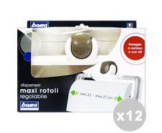 12er Set MAXI Toilettenpapierhalter 22x27 verstellbar - Zubehör Zuhause