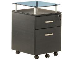 hjh OFFICE 673806 Rollcontainer EKON PLUS graphit, inkl. 2 Schübe, solide Verarbeitung, ideal für Schreibtische, Büro, Büromöbel, Schreibtisch Container, Büro Container, Rollkontainer mit Schubladen