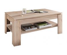 trendteam CT Couchtisch Wohnzimmertisch Tisch| Eiche San Remo hell| 110 x 65 cm