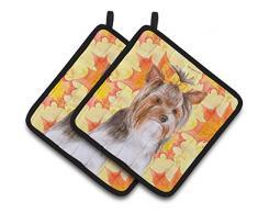 Caroline s Treasures bb9984pthd Yorkshire Terrier # 2 Fall verziert Topflappen, 7.5h X 7,5 W, multicolor