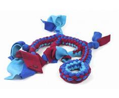 Hundespielzeug Seil, Spielzeug Eidechse Spielzeug Tugger Tug & Chase Seil klein: 40 cm/Rand, groß: 70 cm/fädig Hand Made Soft geflochten Flexible Fleece Hundespielzeug in verschiedene Farben und Größen ideal für Training