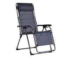 Sonnenstuhl Relaxliege Gartenstuhl schwarz exklusiv
