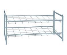 HAKU Möbel 38716 Schuhregal, 30 x 80 x 38 cm, aluminium