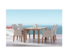 BEST 95150106 Tischgruppe 5-teilig Alicante und Moretti, 160 x 90 cm, mehrfarbig