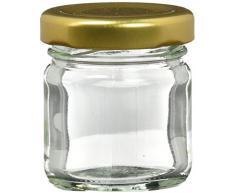 Nutley s kleines Einmachglas mit 42 ml Twist-Off-Deckel - Gold (100 Stück)