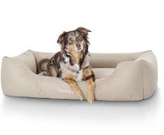 Knuffelwuff 13094 Wasserfestes Pflegeleichtes Hundebett Finlay - Größe M - L, 85 x 63 cm, beige