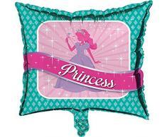 Creative Converting Luftballon, quadratisch, Prinzessinnen-Party, Metallic, Pink