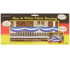 Beistle 50948 Patriotische Stoff Wimpelkette blau/weiß