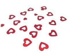 mondial-fete – 30 g Konfetti roten Herzen Metall 1,5 cm