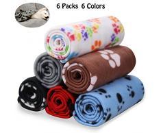 Comsmart Pet Decke Warm Hund Katze Fleece Decken Sleep Matte Pad Bett Bezug mit Pfoten Weiche Decke für Kätzchen Welpe und andere kleine Tiere